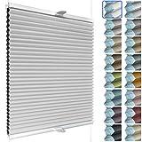 SchattenFreude Waben-Plissee nach Maß für Fenster | 100% verdunkelnd/Blackout | Mit Klemm-Haltern | Klemmfix ohne Bohren | Weiß (Weiße Rückseite), Breite: 70-90cm x Höhe: 100-150cm