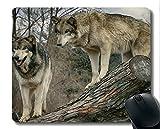 Spiel-Mausunterlage Gewohnheit, Tierwolf flockiges Mousepad Rutschfeste Gummiauflage