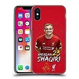 Head Case Designs Offizielle Liverpool Football Club Xherdan Shaqiri 2019/20 Erstes Team Gruppe 1 Soft Gel Handyhülle Hülle Huelle kompatibel mit Apple iPhone X/iPhone XS