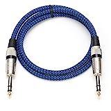 6.35 Audiokabel Gitarre Instrumentenkabel Hi-Fi Sound Stereo Aux-Kabel Mikrofon Symmetrischer Mixer Verstärker Stereo Line Straight-to-Straight Stecker auf Stecker für DMX Bühnenlicht(5m / 16,4ft)