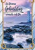 bentino Geburtstagskarte mit MUSIK und LICHTEFFEKT, DIN A5 Set mit Umschlag, schöne maritime Geburtstagskarte mit Meeresrauschen und romantischer Musik