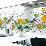 Küchenrückwand Orange Splash Premium Hart-PVC 0,4 mm selbstklebend 60x51