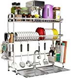 Utensilienhalter, Regal, 304 Spüle, Edelstahl, Ablassregal, Küchenregal, Aufbewahrungsbox, Maße: 79 x 27 x 82 cm