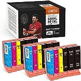 18 LEMERO SUPERX 550XXL 551 XXL Ersatz für Canon PGI-550 CLI-551 Druckerpatrone Kompatibel mit Canon PIXMA IP7250 IP8750 MX925 MG5650 IX6850 MX725 MG5550 MG6350 MG6450 MX920(9B/3C/3M/3Y)