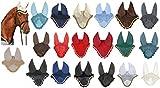 HKM 3387 Fliegenhaube, Insektenschutz Fliegenschutz Ohrenschutz, Schwarz/Silber, Vollb