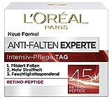L'Oréal Paris Gesichtscreme Anti-Falten Experte Tagescreme 45+, intensive Anti-Age Gesichtscreme mit Retino-Peptiden, für eine straffere und weichere Haut, 50ml