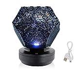 Sternenlicht-Projektor-Lichter, leuchtende LED-Tischlampe, mit Fernbedienung