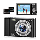 Digitalkamera 2.7K Foto Kamera Digital 44 MP HD Mini Digitalkamera mit 16X Digitalzoom, Wiederaufladbare Fotokamera 2,8' LCD Kompaktkamera Digital für Anfänger, Studenten, Erwachsene