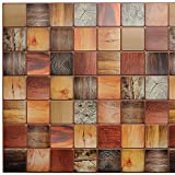 STM Dekor | PVC Paneele Ebenfarbiger Holzbalken | 1 Platte | Holzoptik | Wandpaneele | Deckenpaneele | Tapete | Wanddeko | Wandaufkleber | Schaumstoff | Wasserfest | Wandaufkleber…