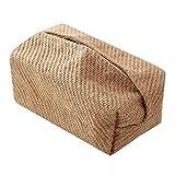 XININ Japanischer Stil Jute Taschentuchbox Serviettenhalter für Wohnzimmer Tisch Taschentuchboxen Behälter Zuhause Auto Papierspender Halter