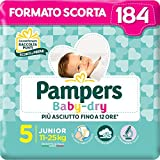 Pampers Baby Dry Junior, 184 Windeln, Größe 5 (11-25 kg)