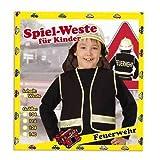 Party-Chic 15525 Kinder Kostüm-Feuerwehr-Weste-Gr. 116