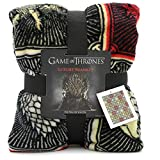 Game of Thrones Geschenke Merchandise GOT Decke Super Soft Bettüberwurf Stark Lannister Targaryen Greyjoy Baratheon Tyrell Great House Symbole Westeros
