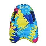 Delisouls Aufblasbares Surf-Bodyboard mit Griffen, leicht, schwimmende Surfbrett-Hilfsmatte, Schwimmhilfe für Kinder