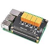 MakerFocus Raspberry Pi Erweiterungsplatine 4-Kanal Relais Board Modul Power Relais Modul für Raspberry Pi 4B/3 Modell B+/Raspberry Pi 3/2 Modell B (keine Programmierung erforderlich/programmierbar)