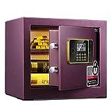 Möbeltresore Safe elektronischer Passwortschlüssel Versteckter Safe Haushalts-Wandtresor Klein 48cm (Color : Purple, Size : 36 * 42 * 65cm)