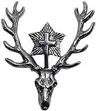Hutanstecker Hubertus-Hirsch Hut-Anstecker Jagdabzeichen Jagd-Wander-Abzeichen Jäger Brosche Pin deer Hutschmuck für den Trachtenhut zum Jagen Hirschkopf Trachtenanstecker