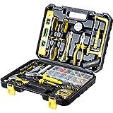 WMC TOOLS Werkzeug Set Werkzeugkoffer 700 teilig mit Bit Set Werkzeugset Haushalt Werkzeuge Set basic Steckschlüsselsatz Hammer Zange Maßband Säge