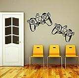 DecorimDecorWallDecal Wandaufkleber Game-Controller Gamer Gamepad Joystick Gaming Videospiel Kinder Kinderzimmer Jungen Zimmer Badezimmer Vinyl Wanddekoration Wandaufkleb