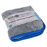 Nanoprotect Premium Flausch Mikrofaser Trockentuch | 1 Stück | 1000 GSM | 40 x 40 cm | Poliertuch aus Microfaser