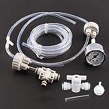 Wosune Aquarium DIY CO2-Kit, 1-Set-Aquarium-CO2-System-Set, Pro-Rohrventil-Flaschenverschluss-Kit Pflanzgefäß-CO2-System für Aquarium-Aquarium