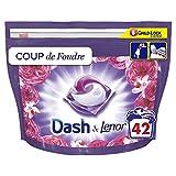 """Dash and Lenor 3-in-1 Waschmittel in Flüssigkapseln, 84 Waschgänge (2 x 42), Kollektion """"Überschwallen"""" mit langanhaltender Frische."""