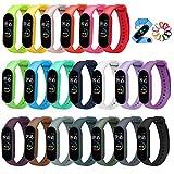 ivoler 20 Stück Armband für Xiaomi Mi Band 6/Mi Band 5, Silikon Ersatzbänder Wasserdicht Ersatz Uhrenarmbänder -20 Farben