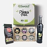 SANUUS Pizzapaket (Bio Olivenöl, Bio Tomatenmehl & Bio Gewürze) DIY Set für Bio Pizza zum selbermachen
