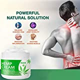 Aktive Schmerzlinderung Creme Hanföl Behandlungsgel gegen Entzündungen, Knie, Schulter und Rückenschmerzen & Muskelschmerzen