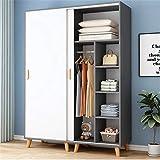 HXiaDyG Kleiderschrank Garderobe Home Schlafzimmer Moderne minimalistische Aufbewahrungsschrankplatte Einfache Schiebetür Hängende Kleiderschrank Für Schlafzimmer (Farbe : Grau, Size : 190x50x140cm)