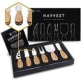 HARVEST Premium 6-teiliges Käsemesserset - komplette Käsemesser-Kollektion aus Edelstahl mit Teakholzgriffen und durchgehenden Klingen (zum Verschenken bereit)