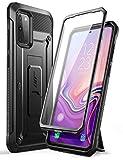 SUPCASE Outdoor Hülle für Samsung Galaxy S20+ Plus (6.7') Handyhülle Bumper Case 360 Grad Schutzhülle Cover [Unicorn Beetle Pro] mit Integriertem Displayschutz, Gürtelclip und Ständer (Schwarz)