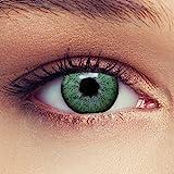 2 Grüne Kontaktlinsen mit Stärke natürlich wirkende farbige Drei Monatslinsen + Gratis Behälter -1,75'Natural Green'