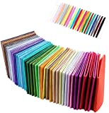 Coolty 40 Farben Filzstoff, Bastelfilz Filz Blätter für Nähen DIY Handwerk Patchwork, 30 cm x 30 cm/12 zoll x 12 zoll, 40 Stück
