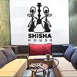 Shisha Haus Wandaufkleber Bieten Kunst Wandtattoos Haus Dekoration Schlafzimmer Shisha Bar Dekoration Selbstklebendes Muster Abnehmbar 57X88 C
