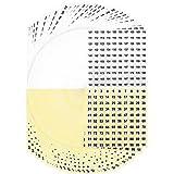 Kulannder Zahlen Rund Aufkleber 100 Blatt Zahlen Etiketten Selbstklebend Nummer Aufkleber Number Stickers Nummernetiketten von 1 bis 100 für Schule Dekorationen und Markieren