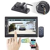 CREASONO 2DIN DAB+ Autoradio: 2-DIN-DAB+/FM-Autoradio mit Farb-Rückfahrkamera (Autoradio DAB Bluetooth)