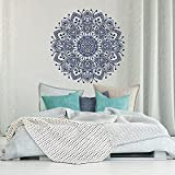 Mandala Wandtattoo Schlafzimmer-Mandala Vinyl Wandaufkleber böhmischen marokkanischen Schlafzimmer Dekoration-indische Mandala Wandkunst Yoga A9 42x42cm