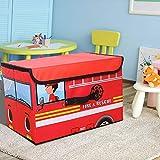 Spielzeugtruhe mit Klappdeckel für Kinder, zusammenklappbar, für Spielzimmer, Schrank, Zuhause (B)