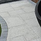 Natürlicher indischer Silbernebel Granit strukturiert Indoor Patio Pack Mix Size Pflastersteine, Platten, Flaggen, 15,39 m² Innenbodenbelag Dekorative Steine DIY Sandgestrahltes B