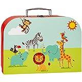 alles-meine.de GmbH Koffer / Kinderkoffer _ Größen & Motivwahl _ GROß - Tiere - Zootiere - 30 cm - Elefant / Zebra / Giraffe / Löwe - ideal für Spielzeug und als Geldgeschenk - M..