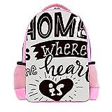 Kinderrucksack, Rucksack für Jungen und Mädchen Vorschule Kinderschulrucksack Zuhause ist dort, wo das Herz ist