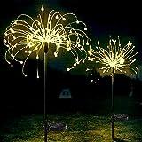 Honche Solar-Lichterkette für Weihnachten, Feuerwerk, Garten, dekorativ, wasserdicht, warm, mit Kreuz, 150 l - 10 cm breit, rund