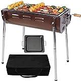 YLJYJ BBQ für Picknick Gartenterrasse Camping Travel Simple Charcoal Grill Perfekt Faltbarer Premium BBQ Grill Edelstahl Verdickung PobbQ