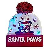 Weihnachten LED Switch Box Strickmütze Laterne Party Wärme Erwachsenen Hut Mit Ball Winter Warm Strickmütze,8