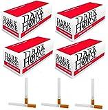 Dark Horse 5000 Zigarettenhülsen Filterhülsen Hülsen Filterhülsen Zum Stopfen von Zigaretten mit Tabak und Zigarettenstopfer