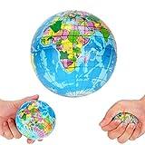 Bweele Planet Erde Ball,Stress Relief Weltkarte Schaumstoffball Atlas Globus Palm Ball Planet Erde Ball Weltkarte Schaumstoff Balls pielzeug für Kinder und Erwachsene