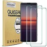 AOKUMA für Sony Xperia 5 II Panzerglas, 【2 Stücke】Glas kompatibel mit Sony Xperia 5 II Schutzfolie, Premium Glasfolie mit 9H Härte, Anti Kratzer, Splitterfest,Anti-Öl,Anti-Bläschen