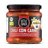 Little Lunch Bio Eintopf Chili Con Carne | 350ml | 100% Bio-Rindfleisch | Ohne zugesetzten Zucker | Glutenfrei | Laktosefrei | 100% Bio-Qualität | Keine künstlichen Zusätze | Ohne Geschmacksverstärk