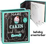 alles-meine.de GmbH Kochbuch & Backbuch - Ordner / Ringbuch / Sammelordner -  Cakes & Desserts  - incl. Name __ Süßigkeiten & Nachspeisen - 25 Seiten - ERWEITERBAR - Rezeptbuch..
